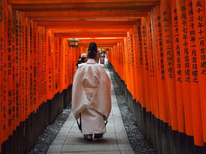 Visita al Fushimi Inari Thaisa a primera hora de la mañana
