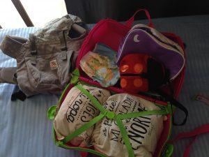 hacer la maleta a los niños