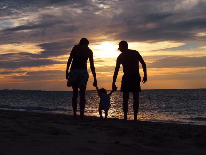 Las playas de Okinawa, en Japón con bebé