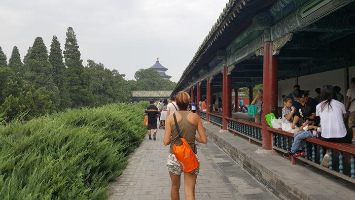 entrando al templo del cielo bejing - El Tour Pekín Imperial con niños