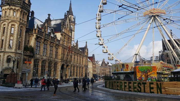 Gante con niños en Navidad, viaje a Flandes en familia