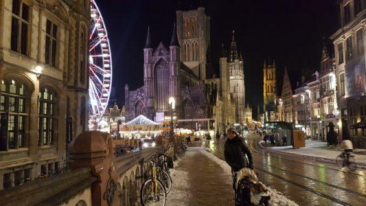 gante noche navidad 533x300 - Gante con niños en Navidad, viaje a Flandes en familia