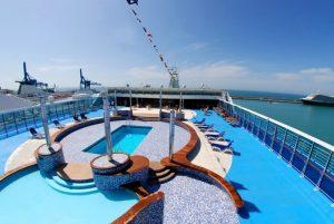 cubierta1 300x201 - De Barcelona a Civitavecchia en el ferry de Grimaldi Lines