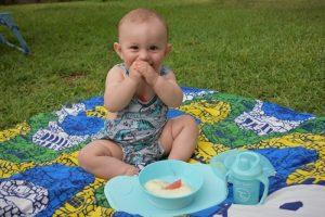 alimentación en viajes en bebés de 6 a 12 meses
