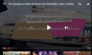 youtube grimaldi1 300x179 - De Barcelona a Civitavecchia en el ferry de Grimaldi Lines