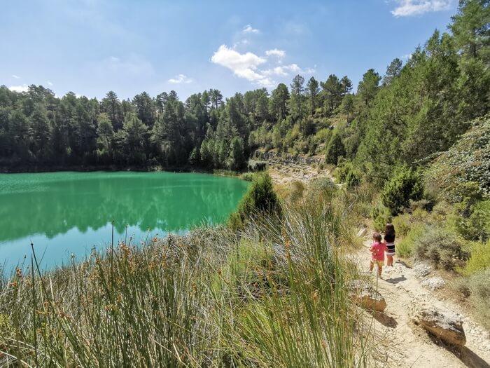 Lagunas de Cañada del Hoyo con niños