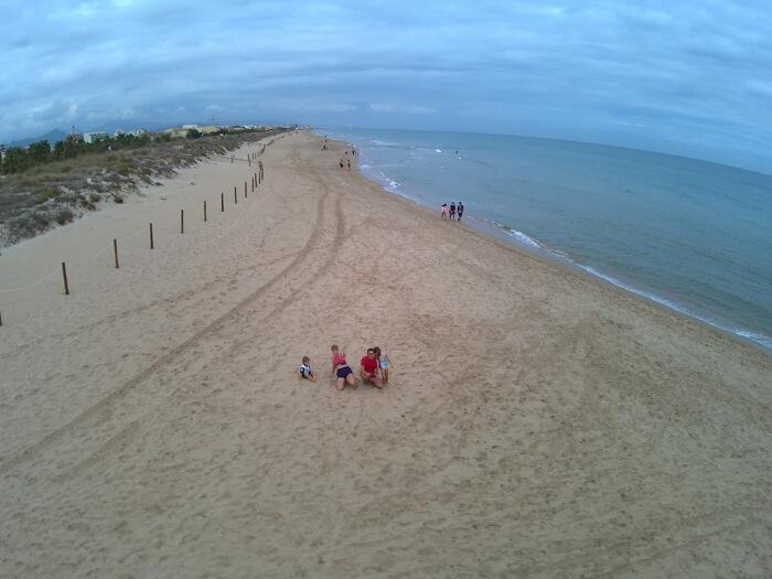 camping en la playa de Oliva