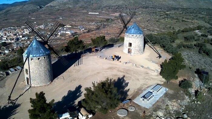 Los molinos de viento de Valencia se encuentran en Alcublas